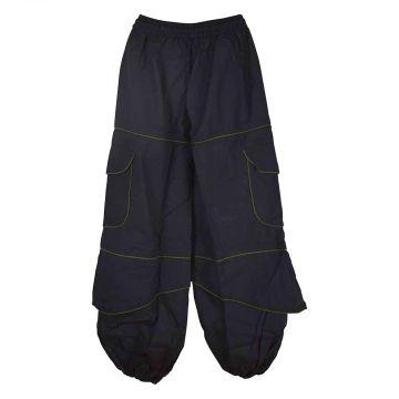 Pantalon Homme Sarila Noir Liseré Kaki