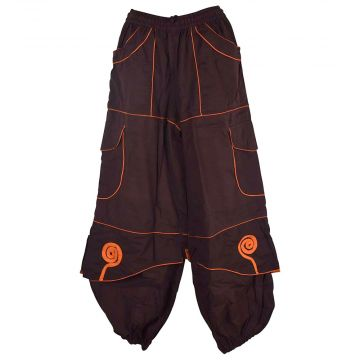 Pantalon Mixte Sarila Choco liseré Orange