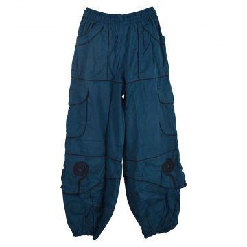 Pantalon Mixte Sarila Quatre Poches Coton Pétrole