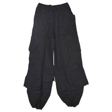 Pantalon Mixte Sarila Quatre Poches Coton Noir