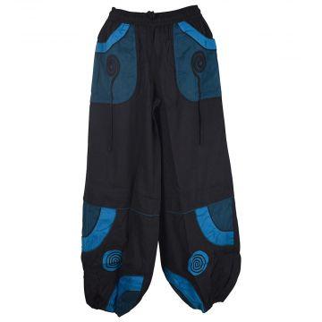 Pantalon Mixte Yaladi Noir et Bleu Pétrole