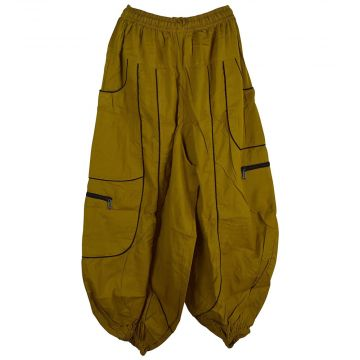 Pantalon Dewas Moutarde Coupe Large
