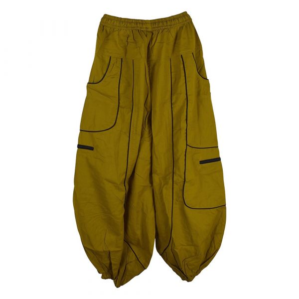 Pantalon Dewas Moutarde Coupe Large