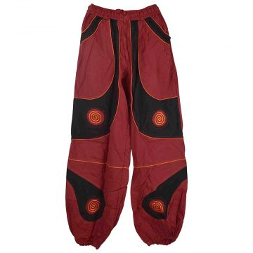 Pantalon Détente Coton Dasai Rouge et Noir