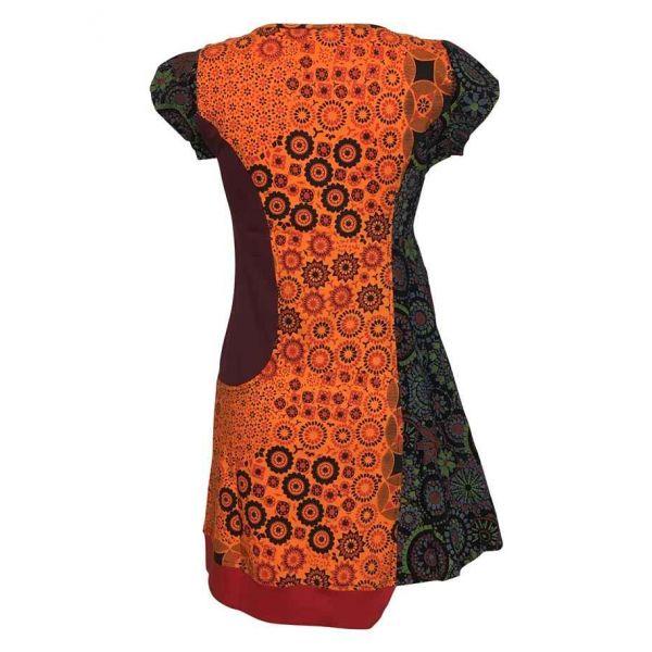 Tunique Shataly Imprimé Ethnique Orange