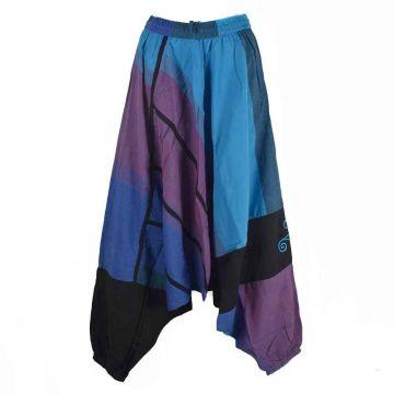 Sarouel Joba Coton Artisanal Bleu