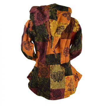 Veste Femme Dipawali Capuche Lutin Patch & Block Print