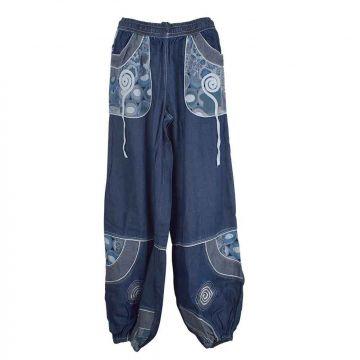 Pantalon Kotwa Toile Denim Imprimé Délavé