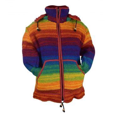 Veste Laine Mixte Rainbow Tricot Fourré Polaire