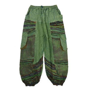 Pantalon Homme Padam Délavé Vert