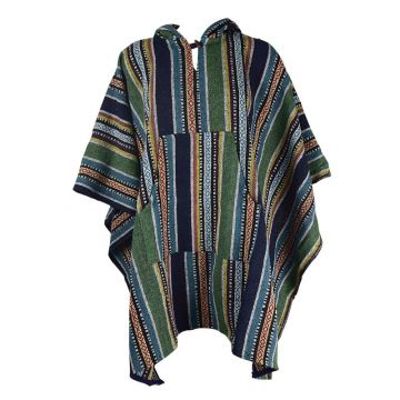 Poncho Jahadi Coton Épais Artisanal Khadi