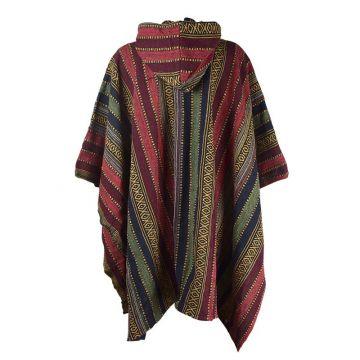Poncho Mixte Jahadi Coton Épais Artisanal Khadi