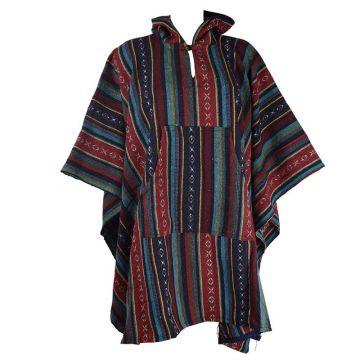 Poncho Mixte Jahadi Coton Épais Multicolore