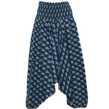 Sarouel Smocks Coton Imprimé Cedar Marine