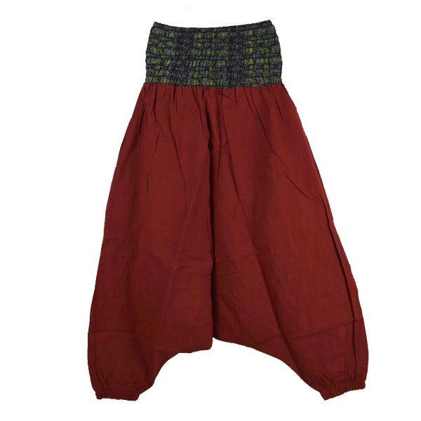 Sarouel Femme Joba Coton Artisanal Rouge