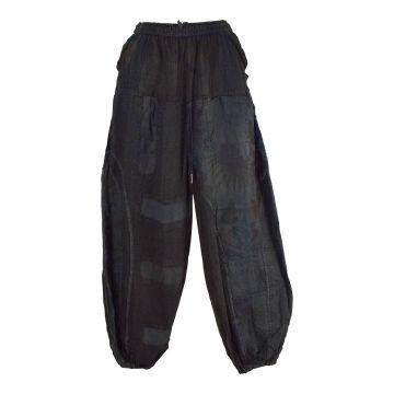 Pantalon Kowra Coton Khadi Délavé Noir