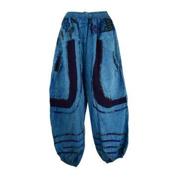 Pantalon Pokur Été Coton Stonewash Bleu