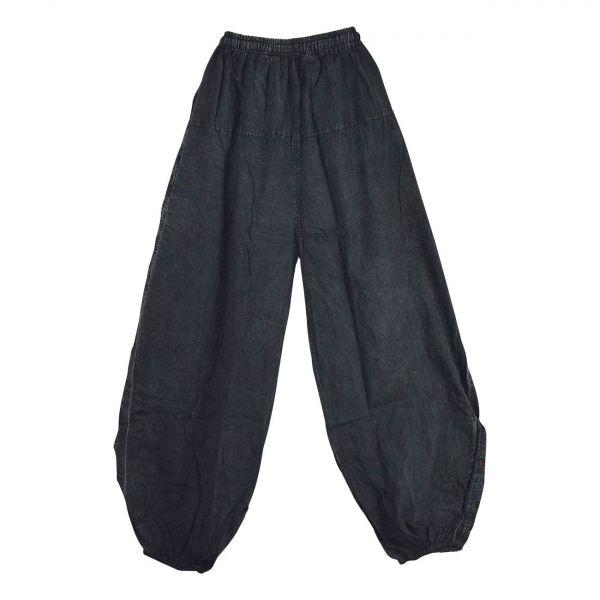 Pantalon Pokur Été Coton Stonewash Noir
