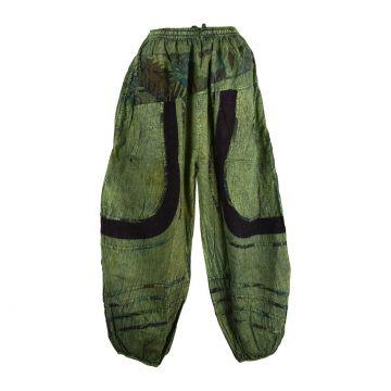 Pantalon Pokur Été Coton Stonewash Vert