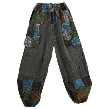 Pantalon Karwa Maille Coton Patch Ton Gris