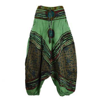 Sarouel Femme Tilra Coton Délavé Ton Vert