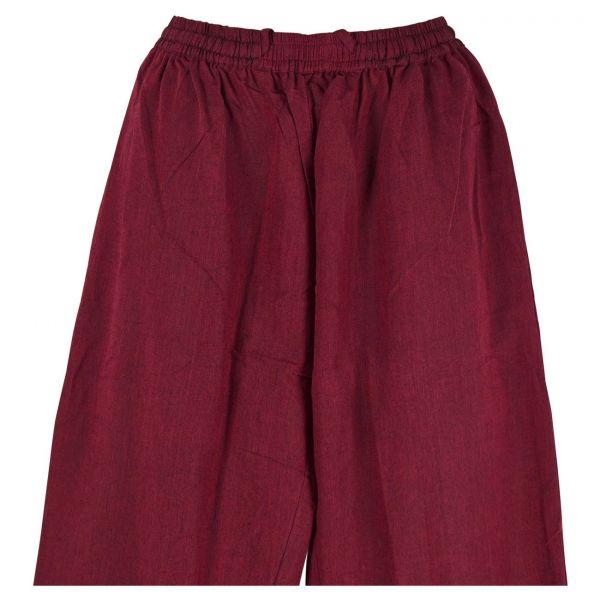 Pantalon Homme Kadhi Coton Artisanal Bordeaux