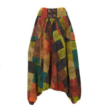 Sarouel Femme Patchwork Block Print SD-16 Taille L/XL