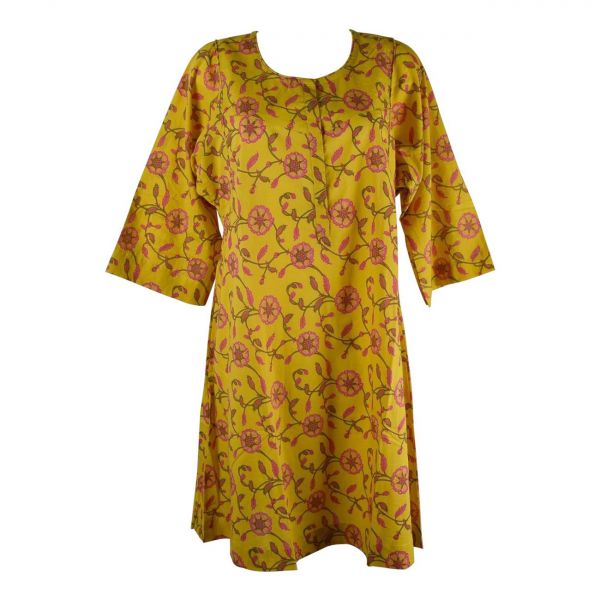 Robe Ample Dimda Imprimée motif Floral