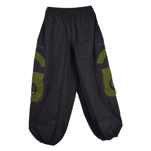 Pantalon Homme Lung Noir et Kaki