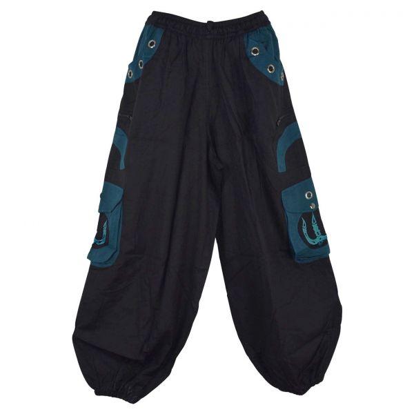 Pantalon Homme Lung Noir et Pétrole