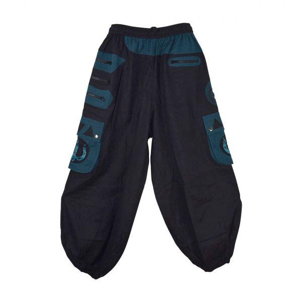 Pantalon Homme Sarpang Noir et Pétrole