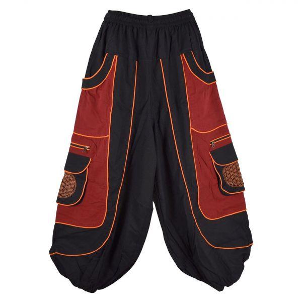 Pantalon Jolka Coupe Ample Noir et Rouge