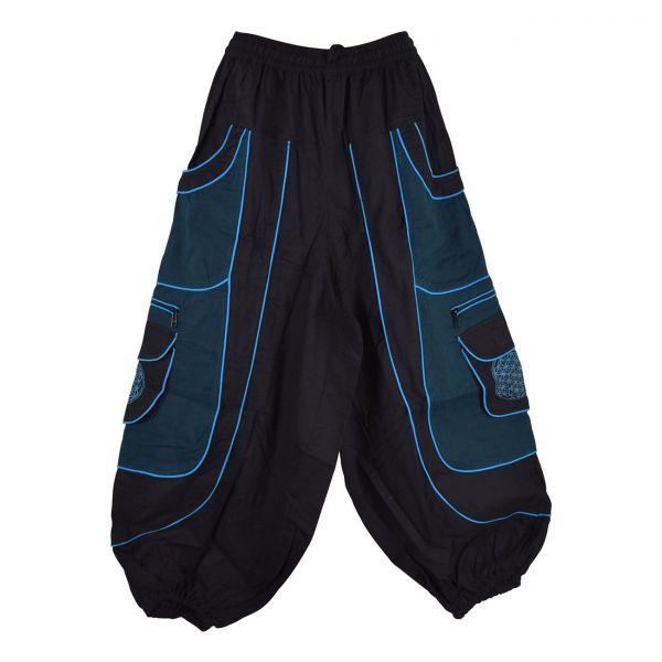 Pantalon Jolka Coupe Ample Noir et Pétrole