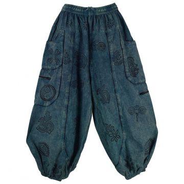 Pantalon Homme Dharan Imprimé Ethnique Pétrole
