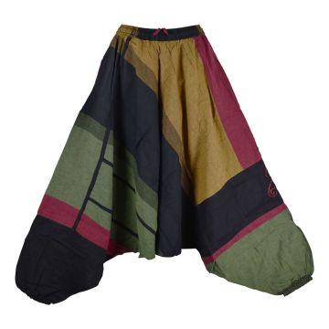 Sarouel Coton Artisanal Kédhary Kaki Népal
