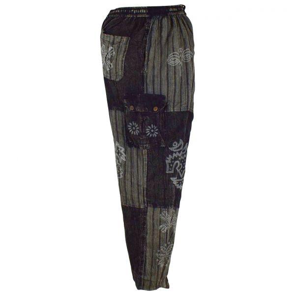 Pantalon Homme Tangla Délavé Artisanal Noir