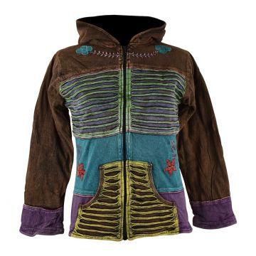 Sweater Femme Derai Jersey Stonewash et Polaire