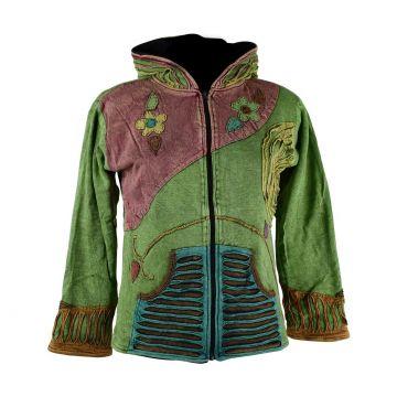 Sweater Mokie Jersey Délavé Vert Doublé Polaire