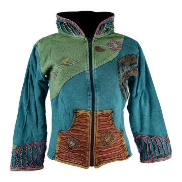 Sweater Ethnique femme Mokie Jersey Stonewash