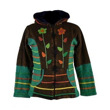 Sweater Femme Tanore Jersey Marron et Floral