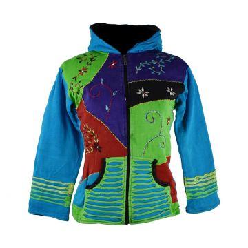 Sweater Capuche Femme Yupia Turquoise