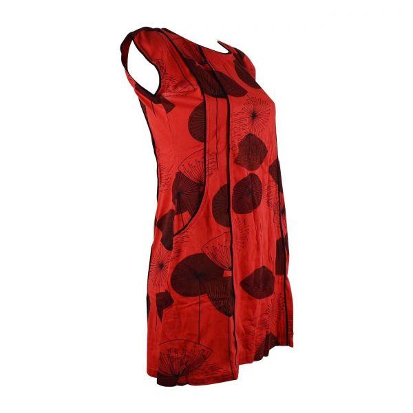 Tunique Chando Jersey Rouge Imprimé Floral