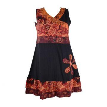 Robe Courte Jamti Imprimé Floral Rouge