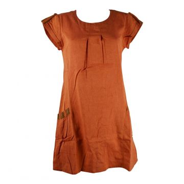 Robe Courte Jabra Coton Khadi Uni Orange