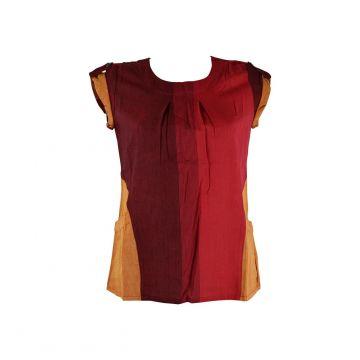 Blouse Coton Artisanal Kedhary Rouge