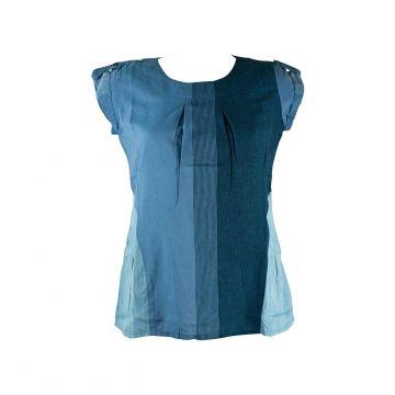 Blouse Coton Artisanal Kedhary Bleu
