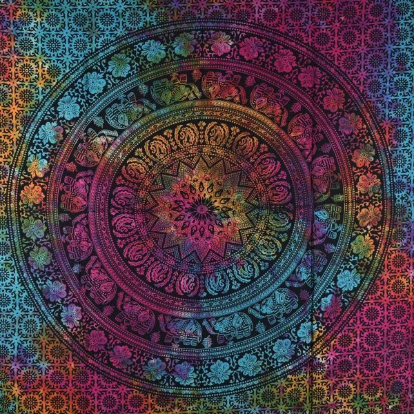 Tenture Mandala Tie Dye TE21-01 Multicolore