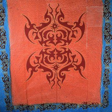Tenture Murale Celtic Orange 210X240 cm