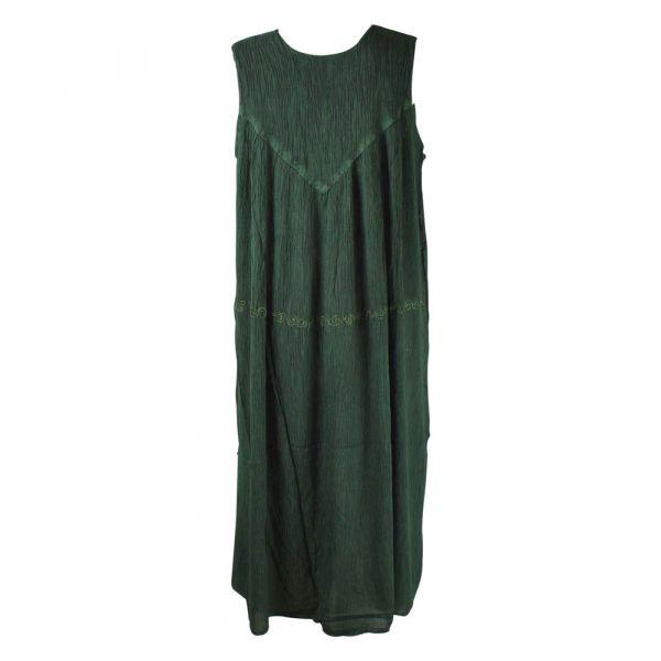 Robe Longue Ample Tusura Ton Vert Foncé