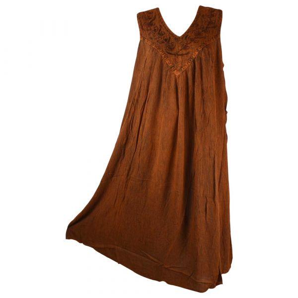 Robe Longue Ample Tusura Ton Marron
